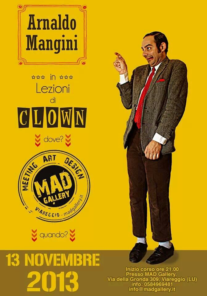 """""""Lezione"""" di clown dal vivo!"""