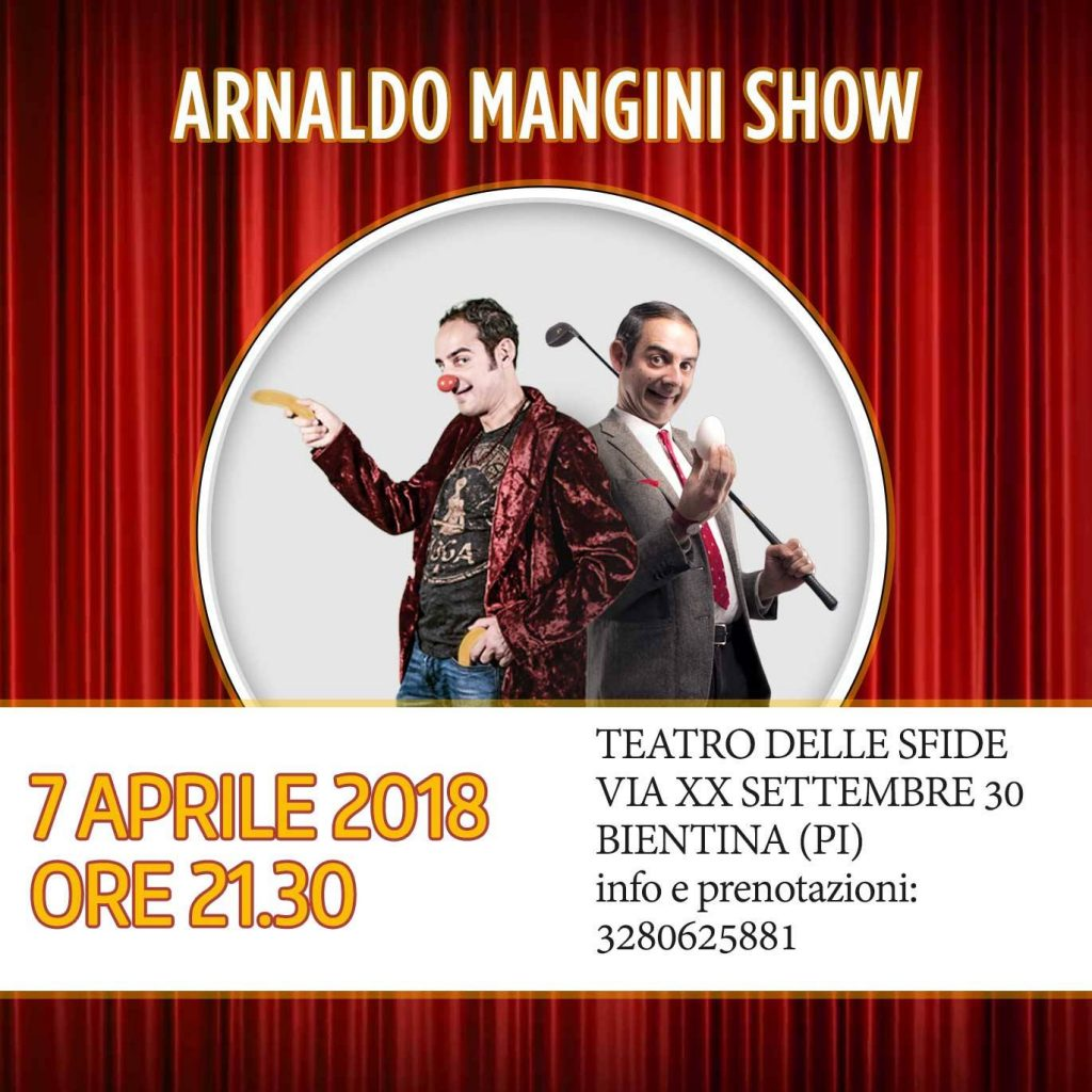 arnaldo mangini zen & now theatre show / mr bean lookalike
